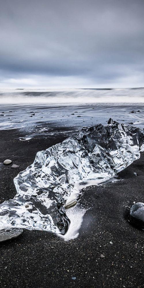 Wandbild Black Diamond Beach