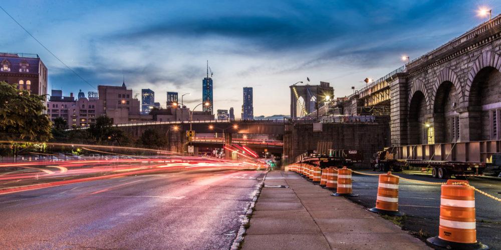 Wandbild Brooklyn at night