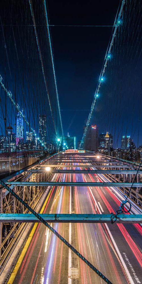 Wandbild Brooklyn Bridge Manhatten