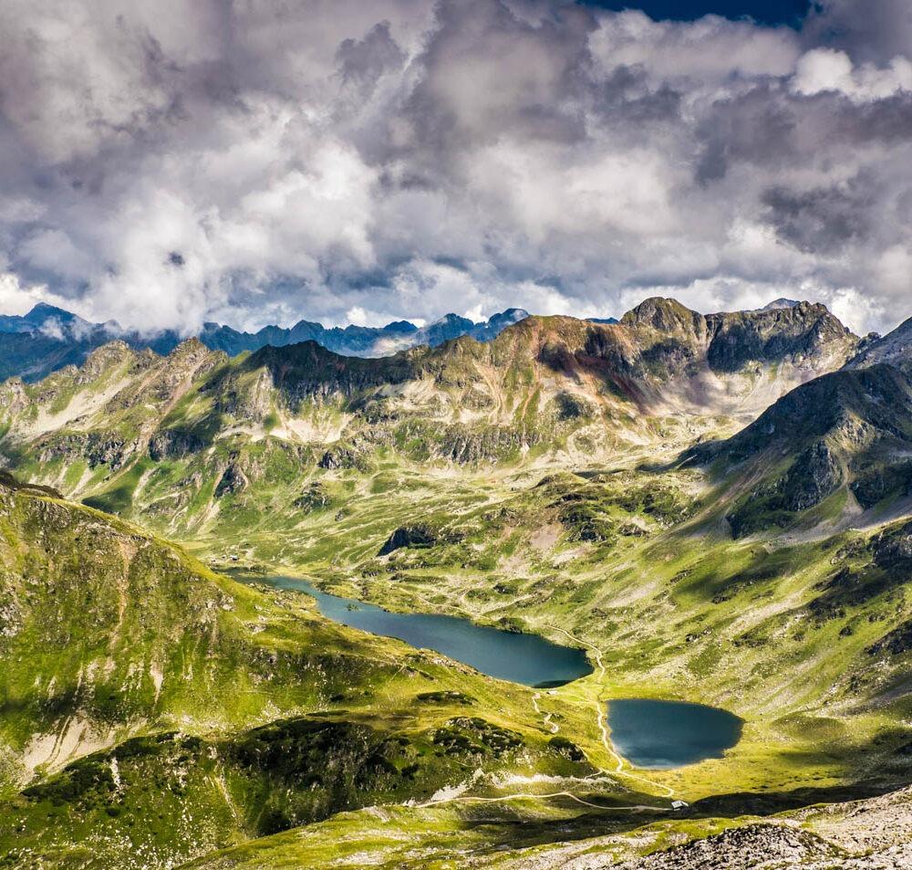 Wandbild Giglachseen von Kesselspitze Wolkenstimmung