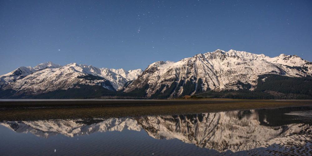 Wandbild Lynn Canal Sternenhimmel Alaska