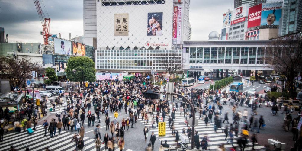 Wandbild Shibuya-crossing Tokio