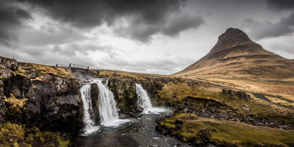 Wandbild Snaefellsnes Island Wasserfall
