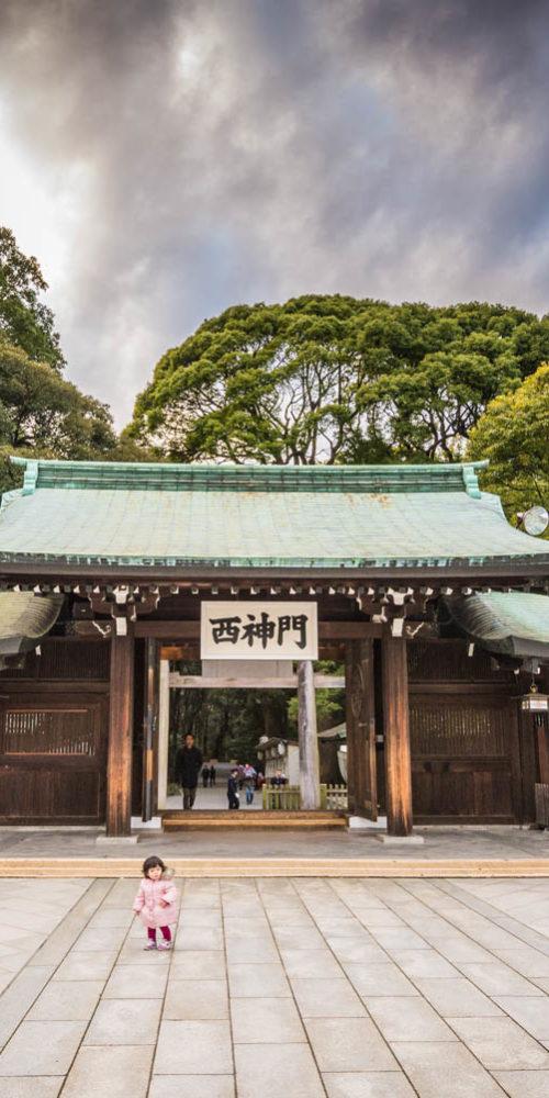 Wandbild Temple Tokio Gierl
