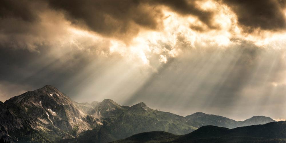 Wandbild Wolkenstimmung Tauern